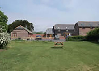 The cottages from the paddock